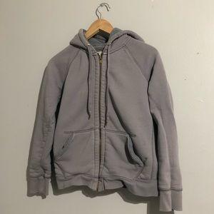 JCrew Sherpa Fleece Zipper Up Sweatshirt Hoodie